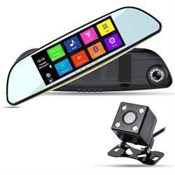 ХРХ ZX857 зеркало с видеорегистратором, навигатором и камерой з/в
